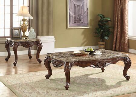 Acme Furniture Jardena 81655SET Living Room Table Set Brown, 2 PC Set