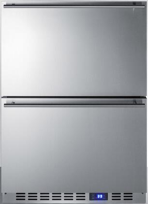 Summit  SPR627OS2D Drawer Refrigerator Stainless Steel, Front View