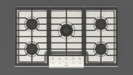 Fulgor Milano Sofia F6PGK365S1 Gas Cooktop Stainless Steel, F6PGK365S1 Top View