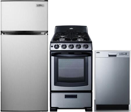 Summit 999670 3 Piece Stainless Steel Kitchen Liances Package
