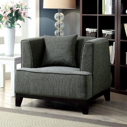 Furniture of America Sofia CM6761GYCHPK Living Room Chair Gray, Main Image