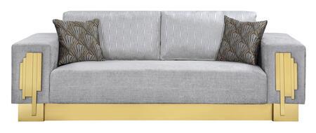 Cosmos Furniture Megan 3035GYMEG Living Room Sofa White, DL b6b4783c638b8588598056fe225b