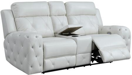Global Furniture USA  U8311BLANCHEWHITEPCRLS Loveseat White, products global furniture color u8311  1131074325 u8311 blanche white pcrls b1