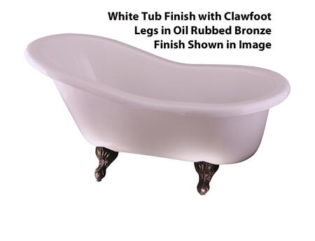 Barclay  ADTS60WHORB Bath Tub White, White Tub Finish with Clawfoot Legs in Oil Rubbed Bronze Finish Shown