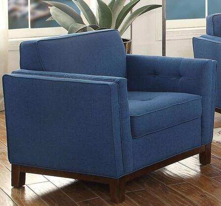 Acme Furniture Lucius 52837 Living Room Chair Blue, 1
