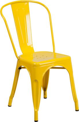 Flash Furniture CH31230 CH31230YLGG Patio Chair Yellow, CH31230YLGG side