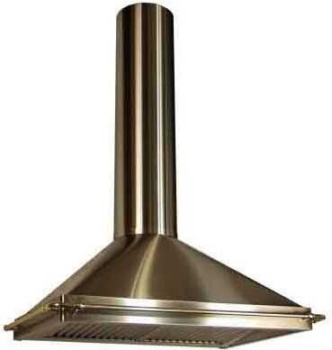 RangeCraft  CMLANDAU Island Mount Range Hood Custom Color, Shown in Stainless Steel