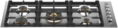 Bertazzoni Professional PROF365QBXTLP Gas Cooktop Stainless Steel, PROF365QBXT Brass Burner Gas Cooktop