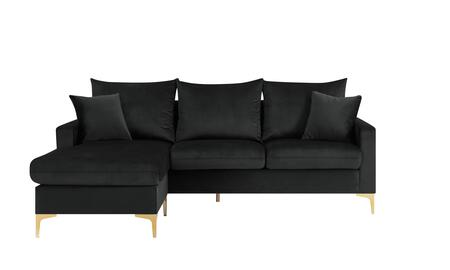 Chic Home Alexandra FSA9517AC Sectional Sofa Black, Main Image
