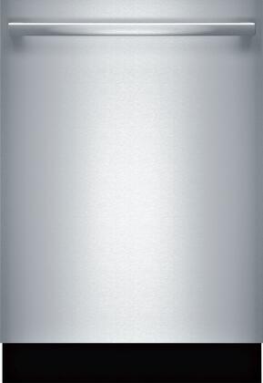 Bosch 500 Series SHXM65Z55N Built-In Dishwasher Stainless Steel, Front View