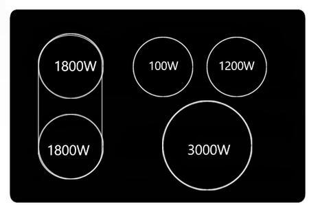 Samsung  NE59J7850W Freestanding Electric Range , Burner Configuration