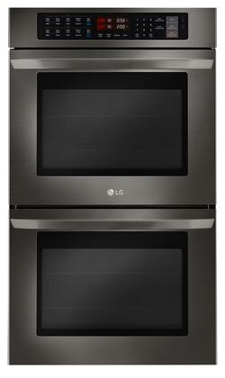 LG  LWD3063BD Double Wall Oven Black Stainless Steel, Main View