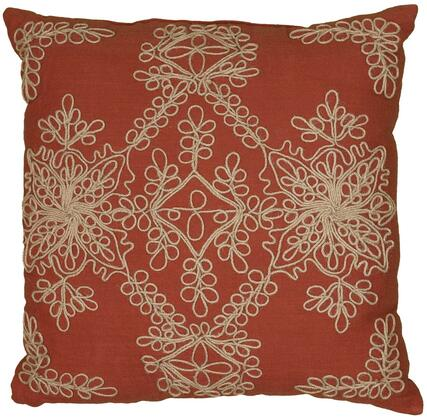 Rizzy Home Cover COVT06201PA001818 Pillow Red, DL 1111592042c90fdc2a75ef2ac2c7