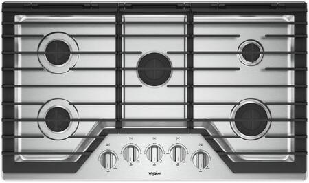 Whirlpool WCG55US6HS Gas Cooktop Stainless Steel, Main Image