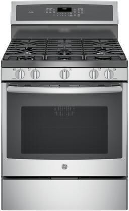 GE Profile PGB930SEJSS Freestanding Gas Range Stainless Steel, Front