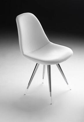 Angel 100-KN1-WHL-CA Leather Chair with White Leather POP Seat and