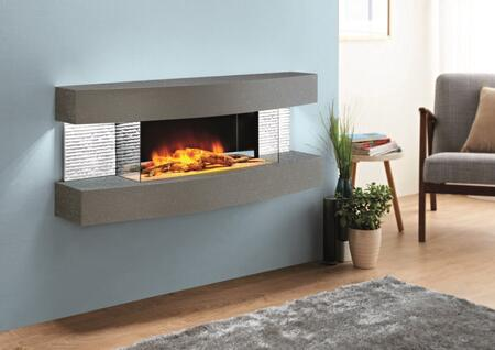Evolution Fires Miami Curve EFMCC Fireplace Gray, EFMCC side