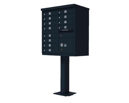 Qualarc CBU12BL Mailbox Accessories, CBU 12 BL