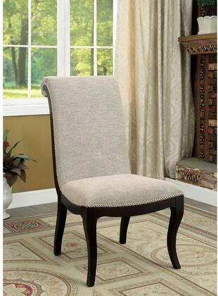 Furniture of America Ornette CM3353SC2PK Dining Room Chair Beige, Main Image