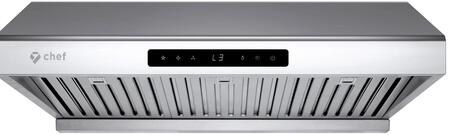 UC-PS10SS-30 30″ PS10 Under Cabinet Range Hood with 900 CFM  Auto Delay Shut Off  LED Lighting and Baffle Filter in Stainless