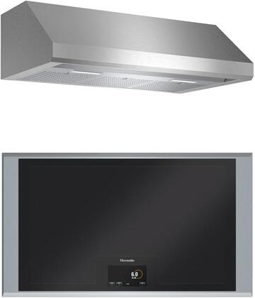 2 Piece Kitchen Appliances Package with CIT36XKB 36″ Electric Cooktop and HMWB36WS 36″ Wall Mount Convertible Hood in Stainless