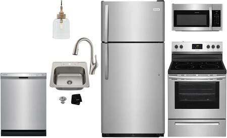 Frigidaire  1289729 Kitchen Appliance Package Stainless Steel, Main image