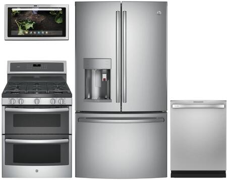 GE Profile 1077358 Kitchen Appliance Package & Bundle Stainless Steel, main image
