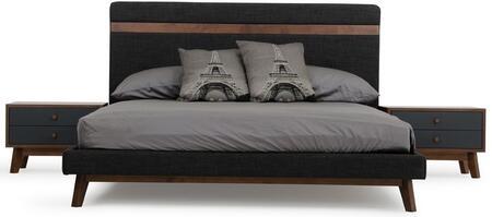 VIG Furniture Nova Domus Dali VGMABR31BEDEK Bed Gray, Main Image