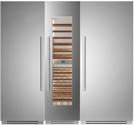 Bertazzoni  1309150 Column Refrigerator & Freezer Set Stainless Steel, 1