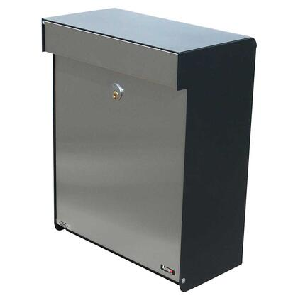 ALX-GRM-BS Allux Series Mailboxes Grandform in Black/Stainless
