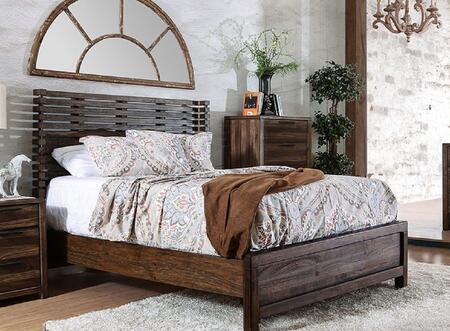 Furniture of America Hankinson CM7576QBED Bed Brown, 1