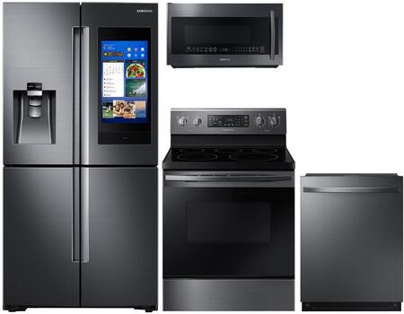 Samsung  1075462 Kitchen Appliance Package Black Stainless Steel, Main Image