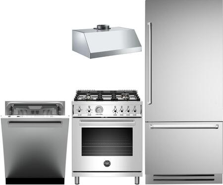Bertazzoni  1000148 Kitchen Appliance Package Stainless Steel, main image