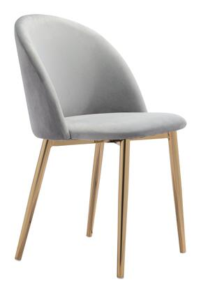 Zuo Cozy 101558 Dining Room Chair Gray, 101558 1