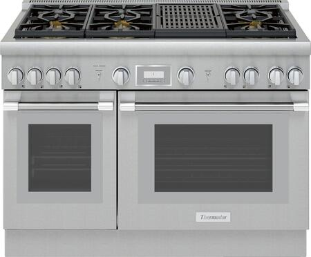Thermador PRO HARMONY PRG486WLH Freestanding Gas Range Stainless Steel, Main Image