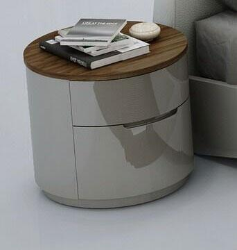 J and M Furniture Amsterdam 18213NS Nightstand Gray, main image