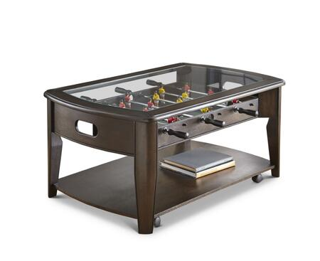 Steve Silver Diletta DL250CBN Coffee and Cocktail Table Brown, steve silver diletta cocktail table with foosball dl250cbn 14