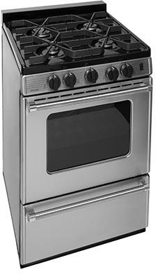 Premier Pro Series P24S3102PS Freestanding Gas Range Stainless Steel, Main Image
