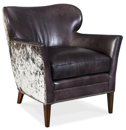 Hooker Furniture CC Series CC469097 Living Room Chair Black, Silo Image