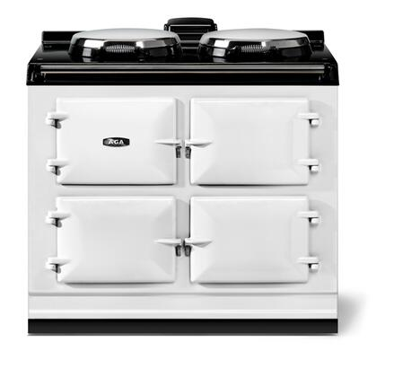 AGA Total Control ATC3WHT Slide-In Electric Range White, Front View