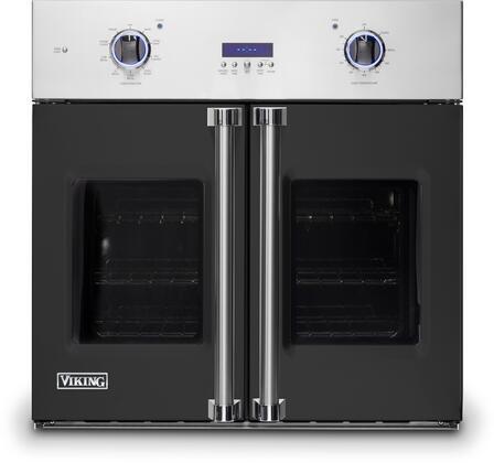 Viking 7 Series VSOF7301BK Single Wall Oven Black, Front view