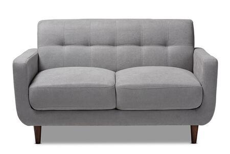 J1453-LIGHTGREY-LS Allister Mid-Century Modern Light Grey Fabric Upholstered
