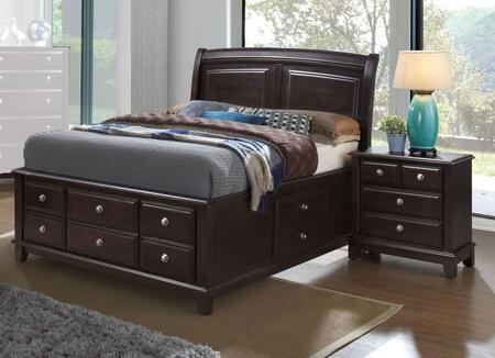 Glory Furniture Ashford G9800BKSBEDROOMSET Bedroom Set Brown, Main View