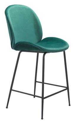 Zuo Miles 101751 Counter Chairs Green, 101751 1