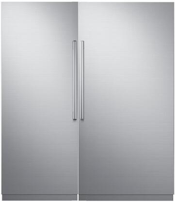 Dacor Modernist 869325 Column Refrigerator & Freezer Set Silver Stainless Steel, 1
