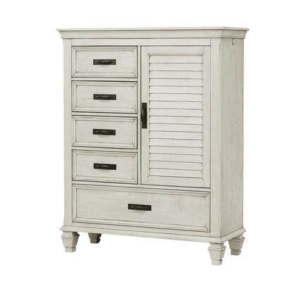 """Franco Collection 205338 43.25"""" Man'S Chest with Five Storage Drawer Extension Metal Drawer Glides and English Dovetail Drawer Construction in"""