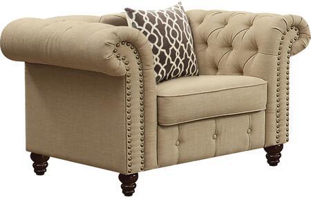 Acme Furniture Aurelia 52422 Living Room Chair Beige, 1