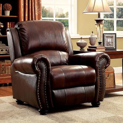 Furniture of America Turton CM6191CH Living Room Chair Brown, Main Image