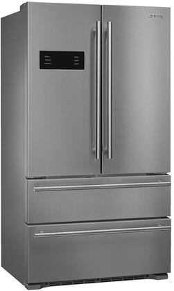 Smeg  FQ50UFXE French Door Refrigerator Stainless Steel, Main Image