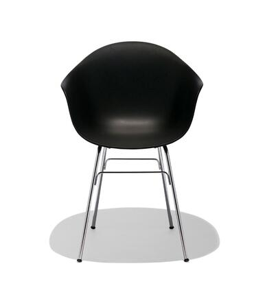 TA Collection TO-1733B-1502C Upholstered Armchair/Er Base Chrome/Black